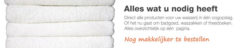 Voor uw wasserij