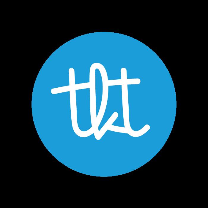 Theedoek - blauw/wit streep