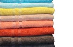 Gekleurd badlinnen